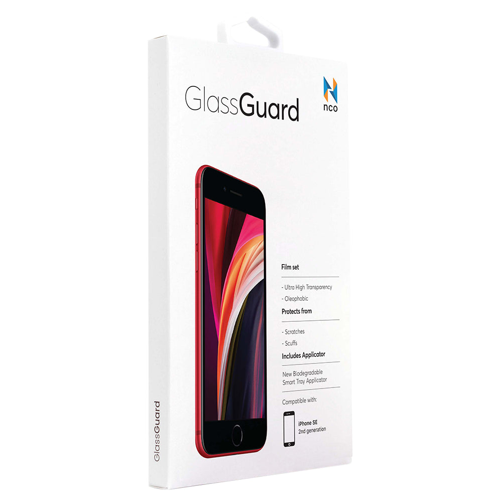 GlassGuard For iPhone SE Second Generation with aplicator (Compatible con iPhone 7 y 8)