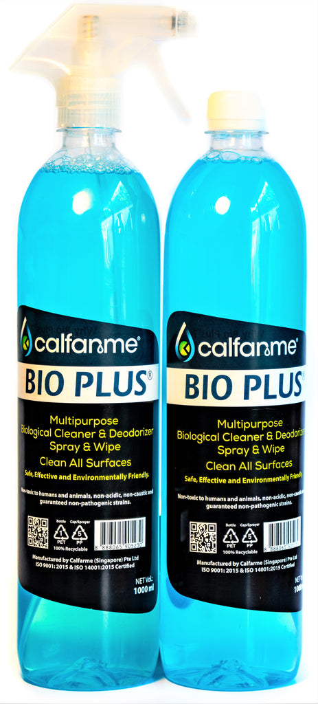 1 Litre BIO PLUS® MULTIPURPOSE BIOLOGICAL CLEANER & SANITISER SPRAY & WIPE (RTU)