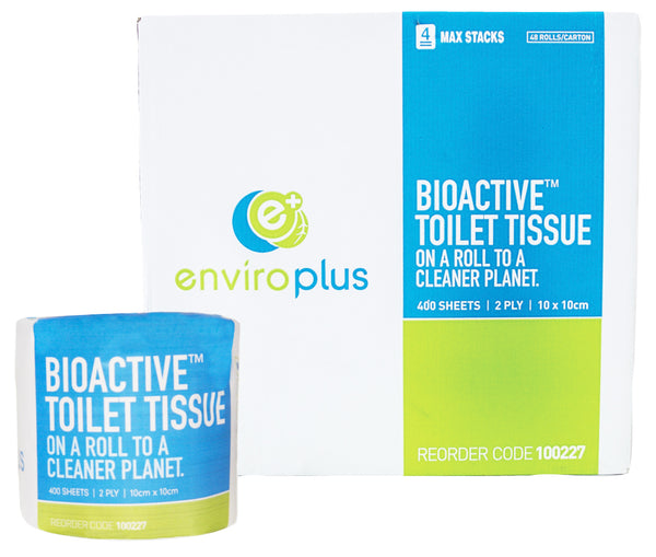 BIO ACTIVE TOILET TISSUE 2Ply 400 SHEETS PER ROLL