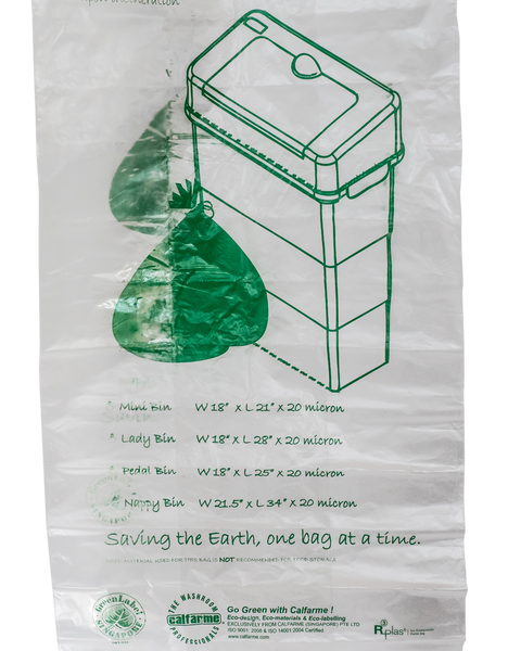 OXO-BIODEGRADABLE HYGIENE BIN LINER WITH HYGIENE BIN BIO-ORGANIC GEL