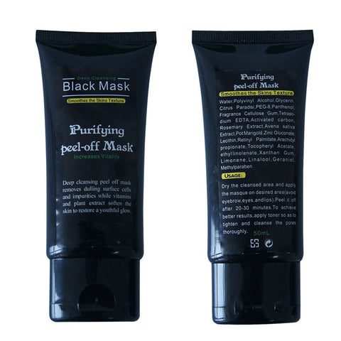 Magic Blackhead Peel Mask - Deep Cleansing Purifying Peel Black Mud Face Mask