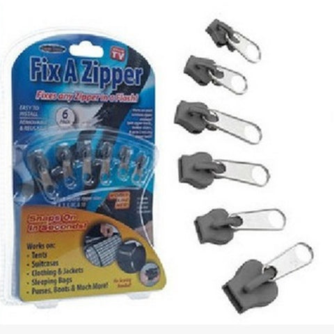 6pcs/lot Fix A Zipper As Seen On TV Magic Zipper Fix Any Zipper Quickly Multifunctional Instant Zipper Slider Replacement Sewing