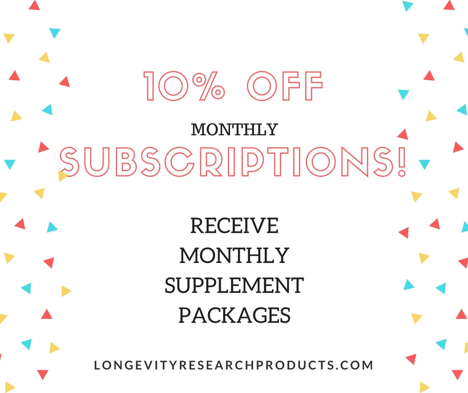 Save 10%, Subscribe to Receive Monthly Packages of Supplements!
