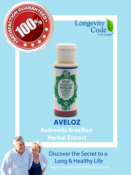 AVELOZ AUTHENTIC BRAZILIAN HERBAL EXTRACT - 2 FL OZ - Longevity Code - Live Longer