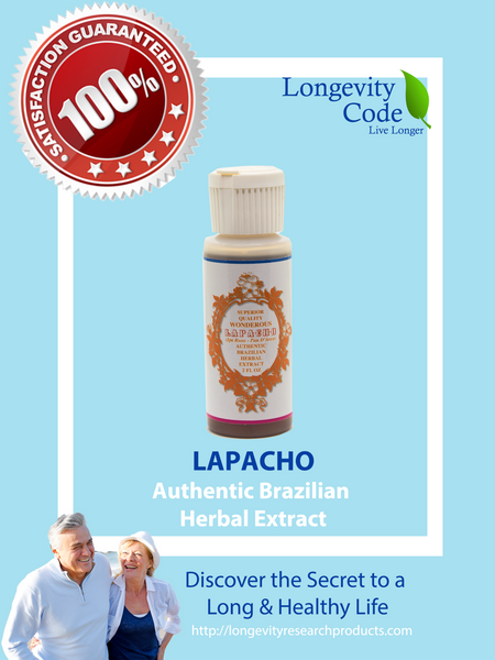 LAPACHO AUTHENTIC BRAZILIAN HERBAL EXTRACT - 2 FL OZ - Longevity Code - Live Longer