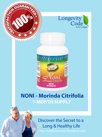 NONI (Morinda Citrifolia) - 500 mg, 60 caps - Longevity Code - Live Longer