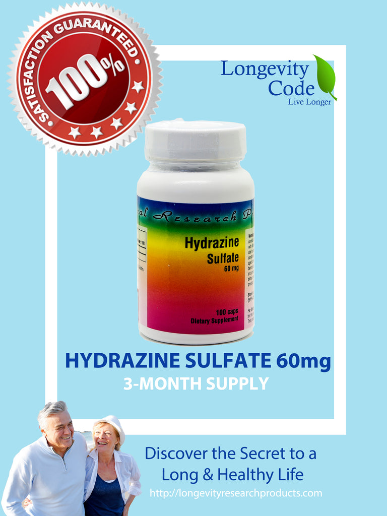 HYDRAZINE SULFATE - 60 MG - Longevity Code - Live Longer