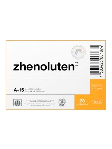 A-15 ZHENOLUTEN - OVARY PEPTIDE 20 CAPSULES - Longevity Code - Live Longer