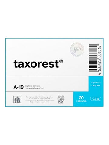 A-19 TAXOREST - LUNG PEPTIDE 20 CAPSULES - Longevity Code - Live Longer