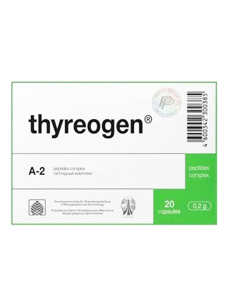 A-2 THYREOGEN - THYROID PEPTIDE 20 CAPSULES - Longevity Code - Live Longer