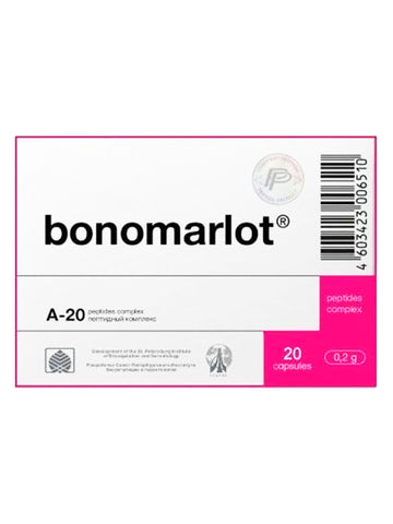 A-20 BONOMARLOT - BONE MARROW PEPTIDE 20 CAPSULES - Longevity Code - Live Longer