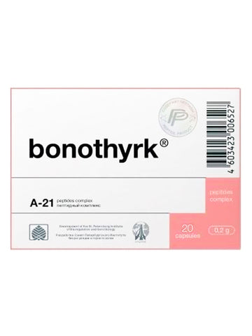 A-21 BONOTHYRK - PARATHYROID MARROW PEPTIDE 20 CAPSULES - Longevity Code - Live Longer