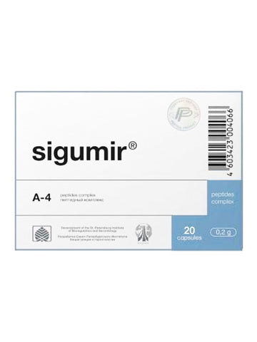 A-4 SIGUMIR - CARTILAGE PEPTIDE 20 CAPSULES - Longevity Code - Live Longer