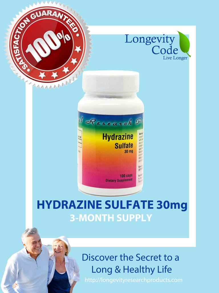 HYDRAZINE SULFATE - 30 MG - Longevity Code - Live Longer
