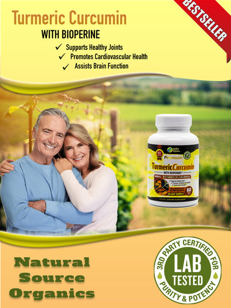 TURMERIC CURCUMIN WITH BIOPERINE ORGANIC - 650 mg, 60 caps. - Longevity Code - Live Longer