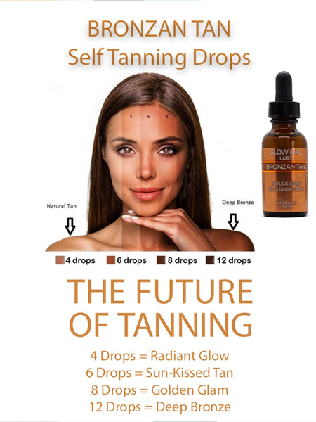 BRONZAN TAN Natural Glow Self Tanning Drops - 30ml - Longevity Code - Live Longer