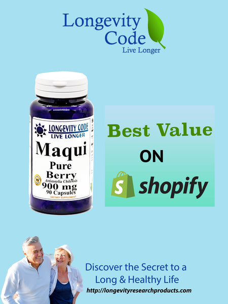 MAQUI PURE BERRY - 900mg, 90caps - Longevity Code - Live Longer