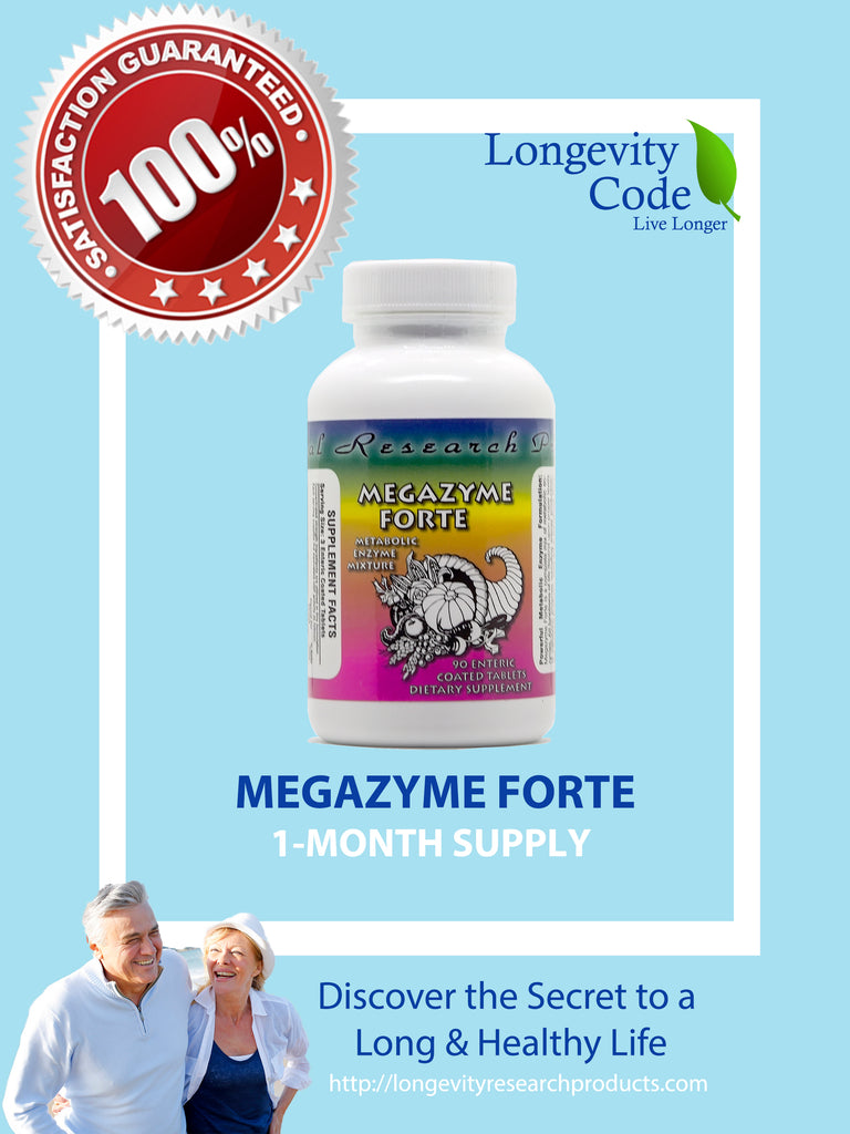 MEGAZYME FORTE - 90 enteric coated tablets - Longevity Code - Live Longer