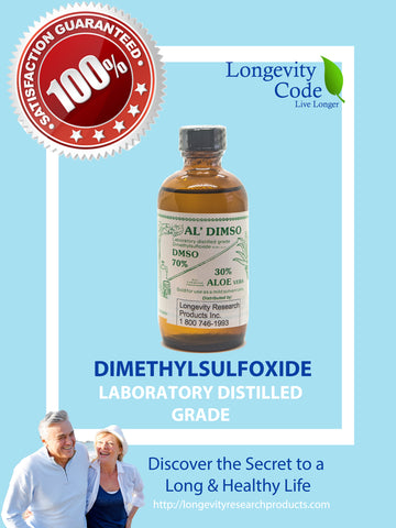 DMSO (dimethyl sulfoxide) Laboratory Distilled Grade - Longevity Code - Live Longer