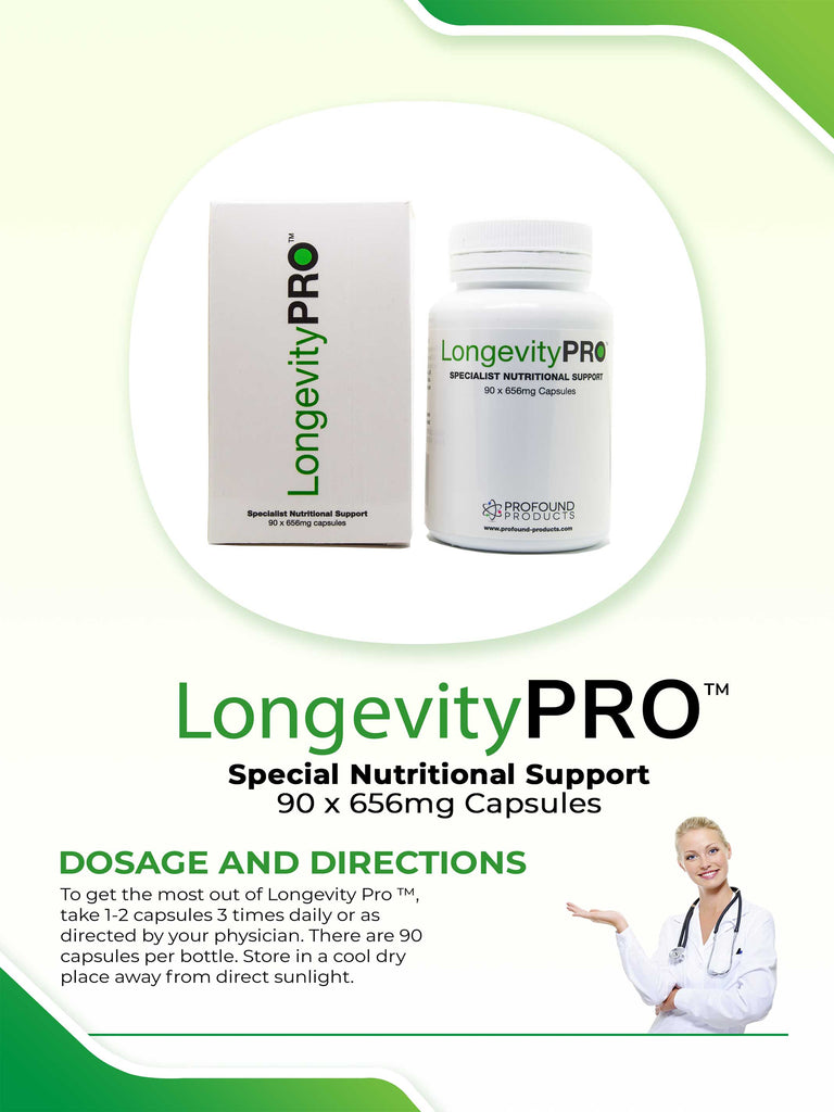 LongevityPRO™ - 656 mg, 90 Capsules - Longevity Code - Live Longer