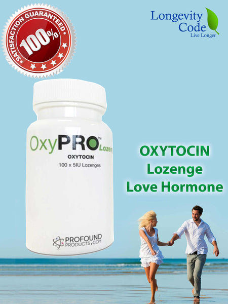 OXY-LOZENGE (OXYTOCIN) - 100x 5 IU lozenges - Longevity Code - Live Longer