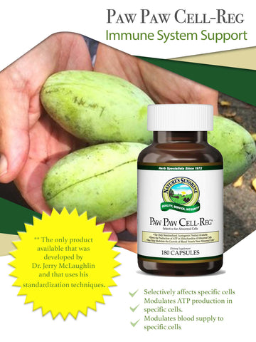 PAW PAW CELL REG - 180 capsules - Longevity Code - Live Longer