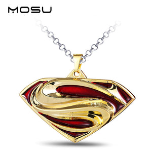 Superman Metal Pendant & Free Chain