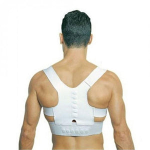 Magnetic Posture Corrector & Back Pain Support - Adjustable Posture Band