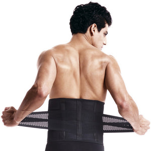 Lumbar Back Support Brace Breathable Mesh Four Steels Plate Protection Back Waist Support Belt S-XXL US Free Shipping