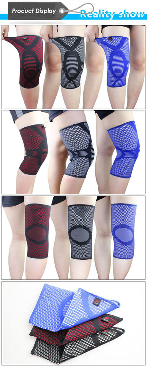 Nylon Elastic Knee Pads / Brace for Injury Prevention and Pain Relief