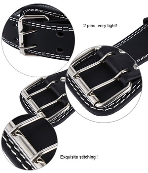 PU Leather Weight Lifting Belt - Wide Back Support - Training Equipment