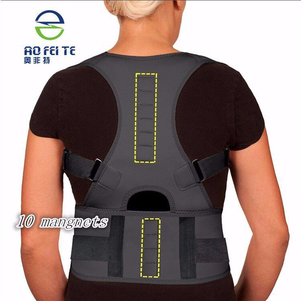 Neoprene Magnetic Back Pain Support & Back Protecture CorrectorS-2XL