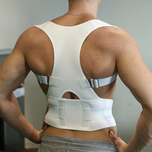 Back Shoulder Support - Belt Brace to Correct Back Posture - Support for Lower Back Pain Relief