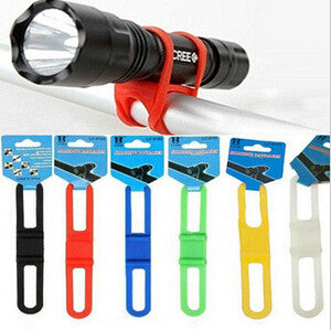 New Silicone Bicycle Flashlight Tie Strap Holder