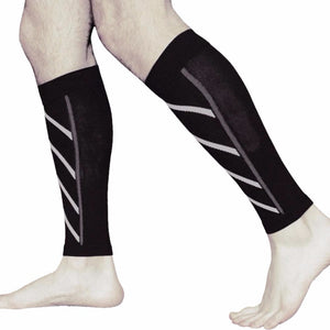 1 Pair Compression Sleeves for Calf, Leg & Shin Splint Protection - Sports Safety