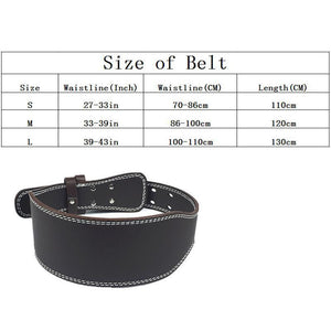 Weight Lifting Belt - High Quality PU Leather - Wide Back Support