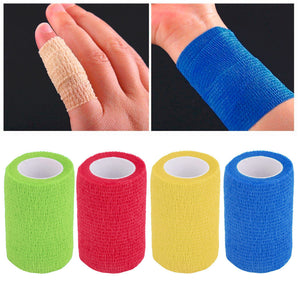 Self-Adhering Bandage Wraps - 4.5mx7.5cm - Elastic Adhesive First Aid Tape