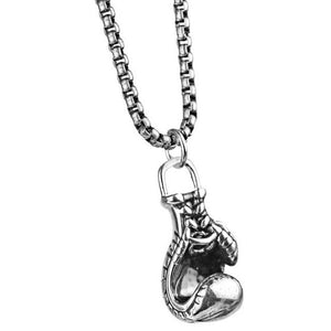 Stainless Steel Chain & Boxing Glove Charm