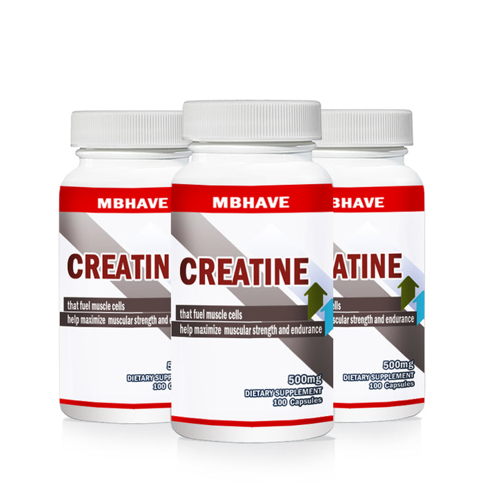2017 hot 3 bottles 300caps PURE CREATINE MONOHYDRATE for Hectic Sports