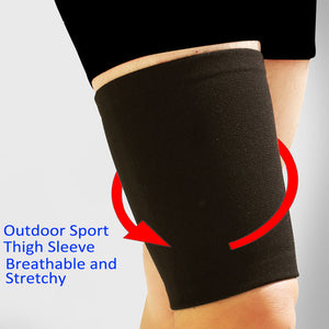 Breathable Stretchy Sports Thigh Sleeve for Hamstring and Groin Support