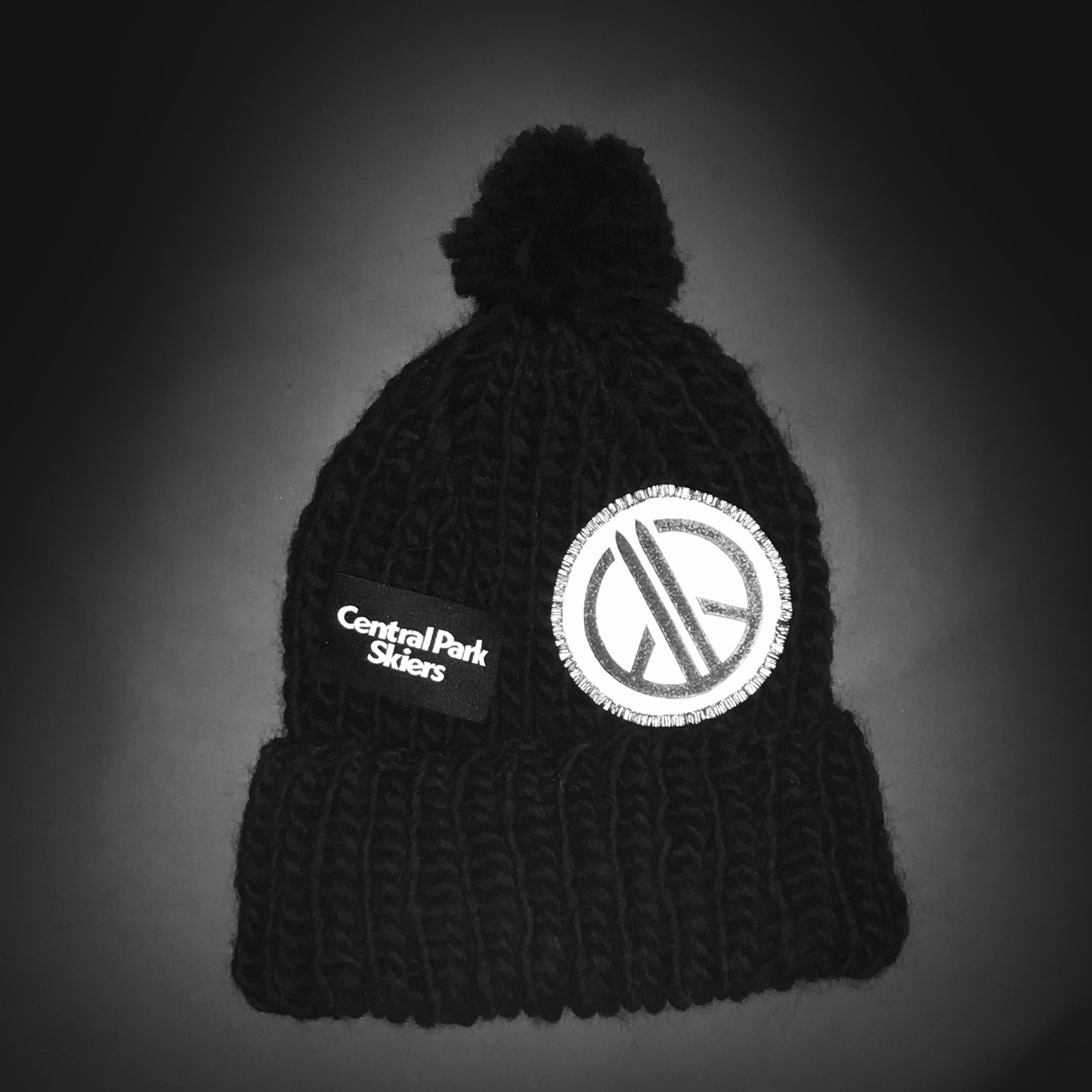 Imagine wool beanie, All Black Reflective