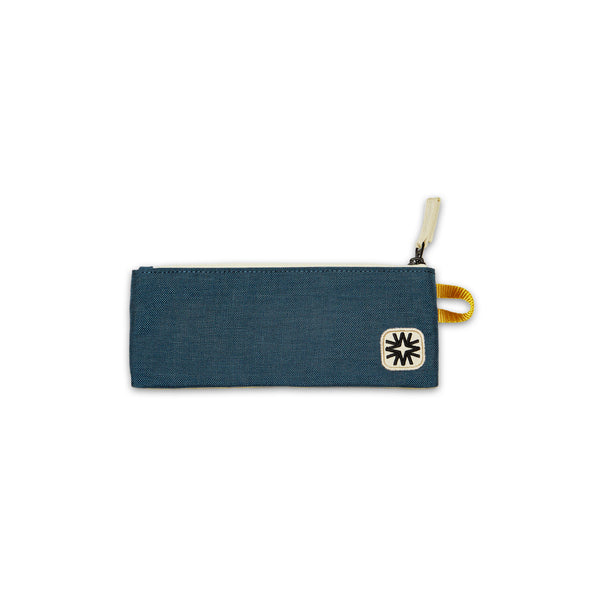 The Pencil Case Navy/Yellow