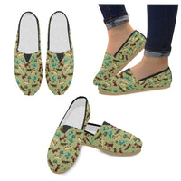 Seamless Cartoon Dog Loafers Flats - Perinterest