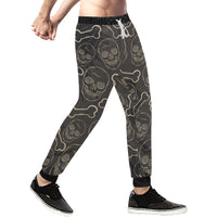 Skull Mens Gym Baggy Slacks Pants - Perinterest
