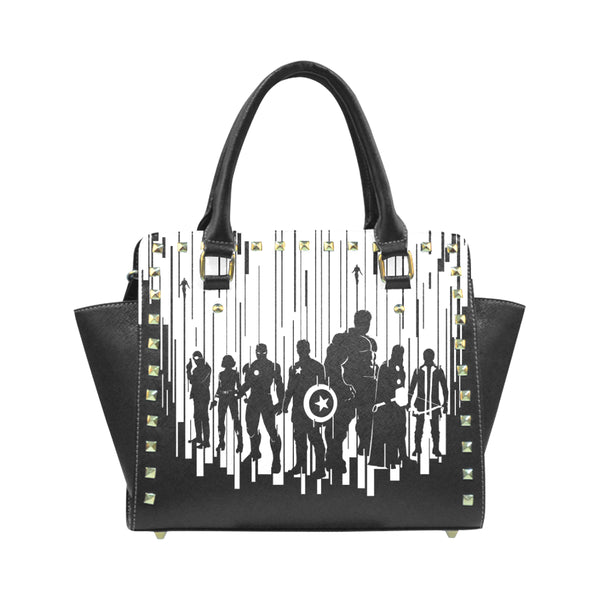 Rivet Shoulder Handbag
