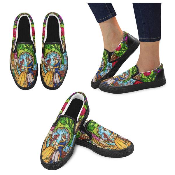 Tale as Old as Time Women Slip-on Canvas Shoes