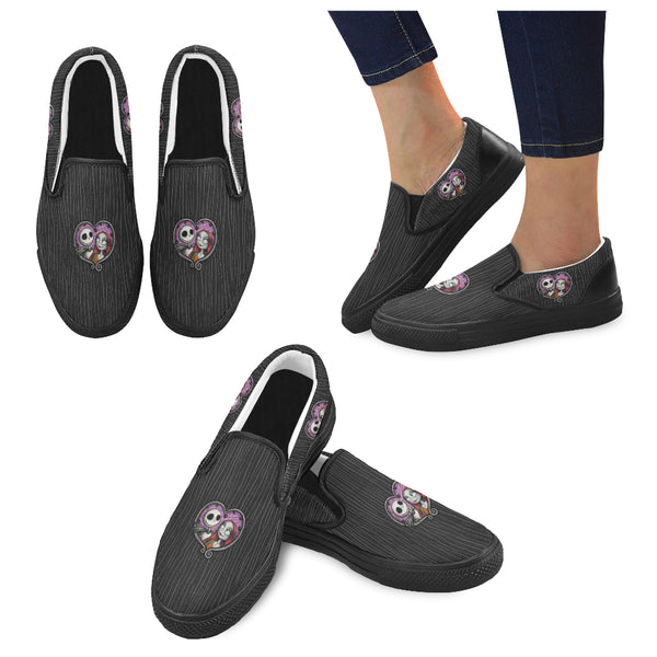 Jack and Sally Women Slip-on Canvas Shoes