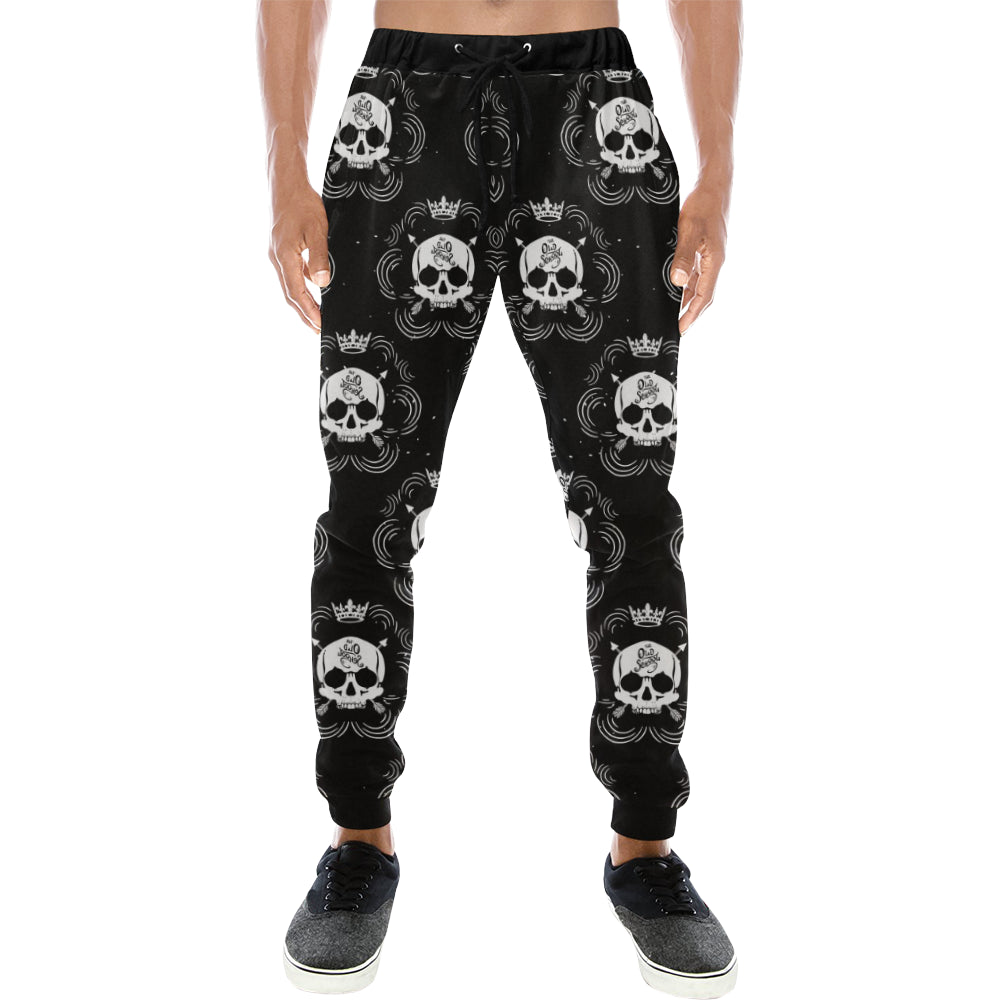 Pirate Skull Mens Gym Baggy Slacks Pants - Perinterest