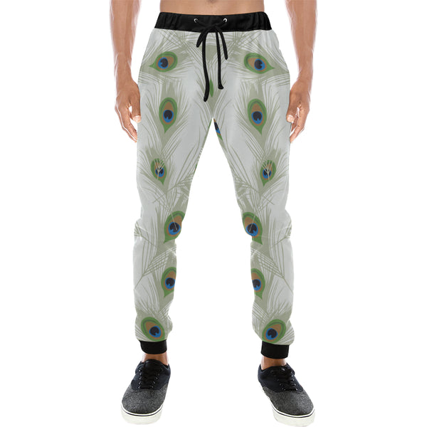 Peacock Feathers Mens Gym Baggy Slacks Pants - Perinterest