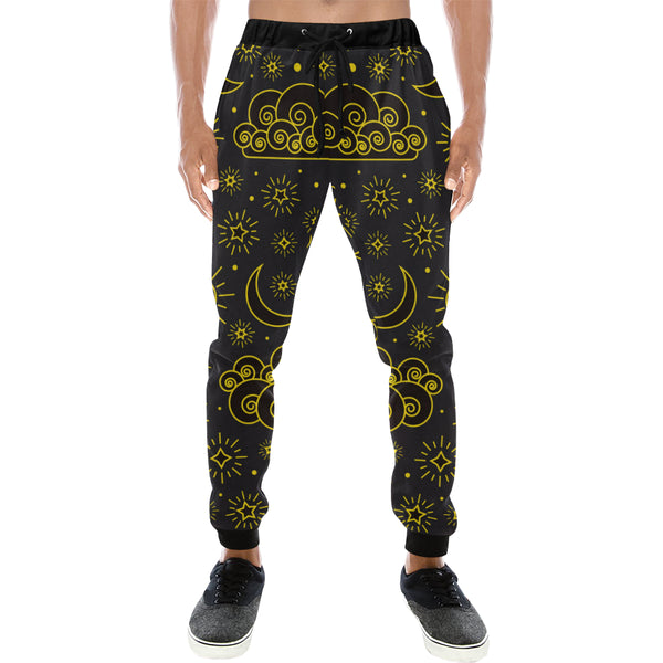 Sun and Moon Mens Gym Baggy Slacks Pants - Perinterest